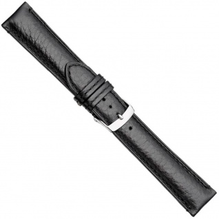 Herzog London Premium Uhrenarmband Kalbsleder Band Schwarz 20878S