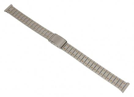 Minott Uhrenarmband Edelstahl Band Bicolor mit Schiebeverschluß 12mm 26875