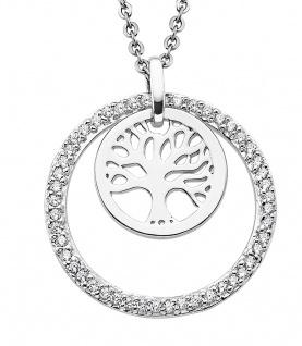 Lotus Silver Halsschmuck Collier Kette mit Lebensbaum Anhänger Silber LP1688-1/1