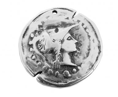 Minott Kette Schmuck Anhänger Medallion Messing im Used Look 27932