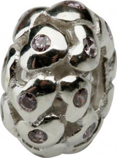 Charlot Borgen Marken Damen Bead Beads Drops Silber mit Zirkonia SCZ-24-Rosa