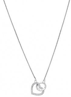 Lotus Silver Halsschmuck Collier Kette mit Herz Anhänger Silber LP1864-1/1