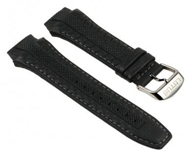 Lotus Uhrenarmband Leder Band schwarz für L15753/1 L15753