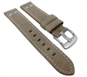 Uhrenarmband Ersatzband Leder Band Grau 26600S