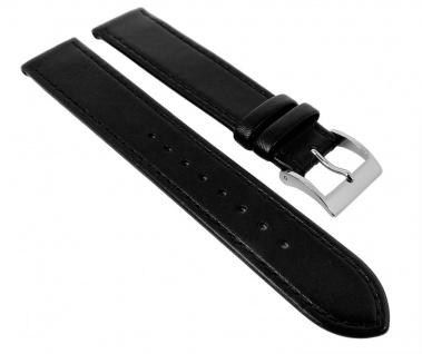 Junghans MAX BILL Uhrenarmband Leder schwarz 18mm 027/3700 XL-Länge
