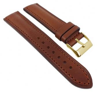 Uhrenarmband Oberseite Leder Unterseite Kautschuk Italo-Chrono braun 20mm 28778