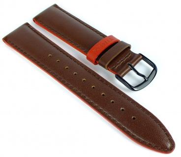 Timex Easy Reader Ersatzband 20mm Leder glatt braun Naht PW2R62300 TW2R62300