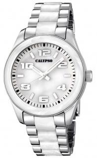 Calypso Damenarmbanduhr Quarzuhr Kunststoffuhr mit Kunststoffband mit Faltschließe analog K5648
