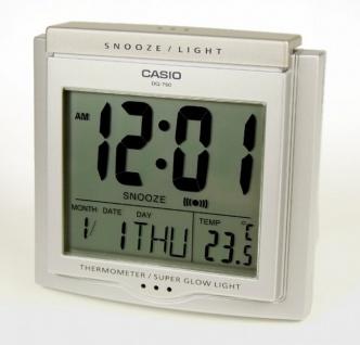 Casio DQ-750-8ER Digital Wecker mit Thermometer und Tagesalarm