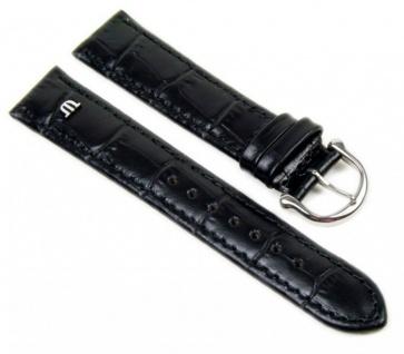 Maurice Lacroix Louisiana XL Uhrenarmband Leder Band Schwarz 20835S