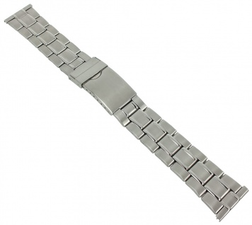 Minott Uhrenarmband 22mm Unisex Edelstahl Band silberfarben 29659S