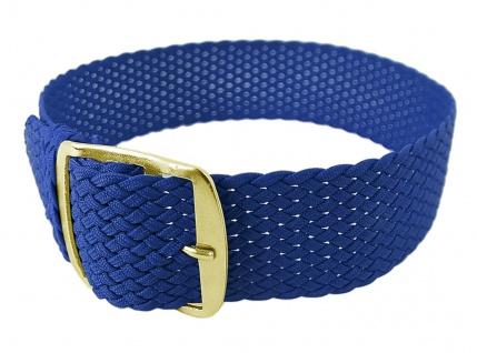 Minott Uhrenarmband 12mm Textil blau gleichlaufend wasserfest