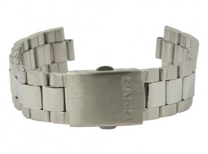 Casio Uhrenarmband Edelstahl Band Silberfarben für MDV-300D 10179810