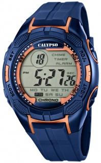 Calypso Herrenarmbanduhr Quarzuhr Kunststoffuhr mit Polyurethanband Alarm-Chronograph digital K5627/9
