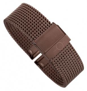 Minott Milanaise | Uhrenarmband Edelstahl Band braun mit verstellbarem Verschluss 30681