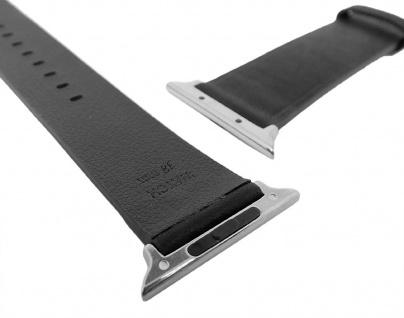 Morellato   Uhrenarmband passend zu Apple Watch 38mm - Leder ? schwarz - Vorschau 2