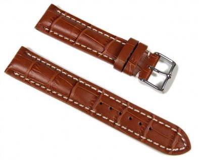 Swiss Chrono Uhrenarmband Leder 20mm 646020S