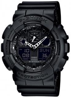 Casio G-Shock schwarz Armbanduhr Herren analog-digital GA-100-1A1ER