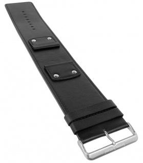 Bruno Banani XT-Square Ersatzband aus Leder in schwarz mit Naht X75 X74