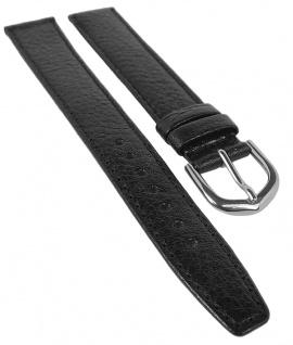 Eichmüller XL Lederband mit Büffelnarbung   Uhrenarmband   schwarz   Überlänge 34167