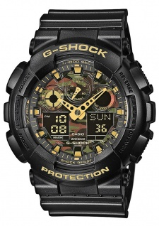 Casio G-Shock digitale Herrenuhr schwarz Resin Antimagnetisch GA-100CF-1A9ER