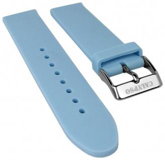 Calypso Watches Uhrenarmband Silikon Band hellblau weich glatt 18mm für Modell K5733/3