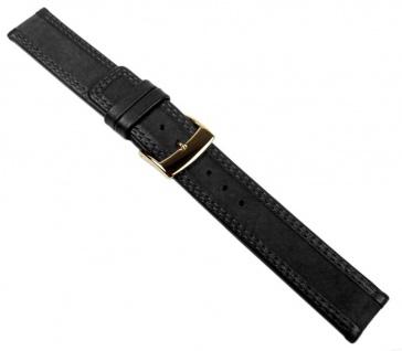 Balance Uhrenarmband Velour- und Glattleder schwarz 20591G