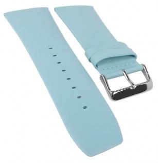 Bruno Banani Ersatzband 34mm blau glatt Leder DT6 100 304