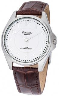 Eichmüller Herrenuhr analoge Uhr Lederband braun Armbanduhr 3ATM Quarzwerk