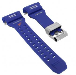 Casio G- Shock Rangeman Ersatzband blau Resin Band Schließe silberfarben GPR-B1000TLC-1