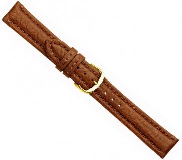 Buffalo Uhrenarmband Büffelleder Hellbraun 20737G