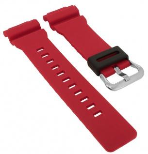 Casio G- Shock Ersatzband rot Resin Band Schließe silberfarben GA-800-4A GA-800