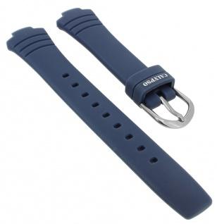 Calypso Ersatzband Kautschuk blau Schließe silberfarben Spezial Anstoß K5758 K5758/1