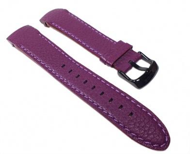 Police Cyber Uhrenarmband Leder Violett 22mm für P12898JSB-02C P12898J