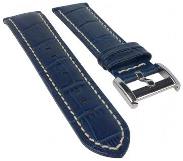 Candino | Uhrenarmband Leder Band dunkelblau mit Krokoprägung 22mm für Modell C4334/8