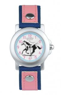 Adora Young Line   analoge Quarz Armbanduhr mit Alu-Gehäuse   Band rosa / dunkelblau   36140