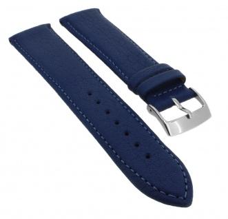 Barington Ersatzband blau mit blauer Naht Uhrenarmband Rindleder Band Waterproof 34768