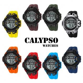Calypso Herrenarmbanduhr Quarzuhr Kunststoffuhr mit Polyurethanband Alarm-Chronograph digital alle Modelle K5696