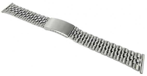 Minott Ersatzband Edelstahl Band silbern 20mm matt/glänzend Faltschließe 37067