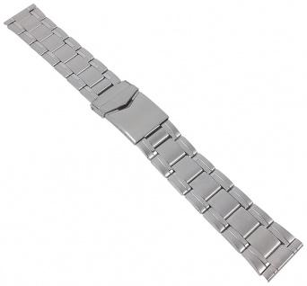 Minott Ersatzband - Edelstahl - silberfarben mit Faltschließe - 18mm / 20mm 30620S