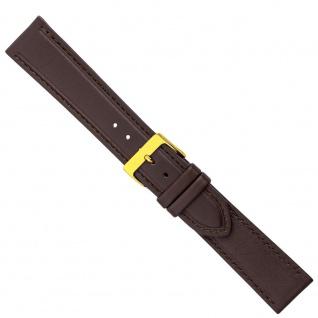 Uhrenarmband Ersatzband Leder Band Dunkelbraun 26583G