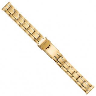 Uhrenarmband Edelstahl Band 16mm PVD-Gelbgold 21221G