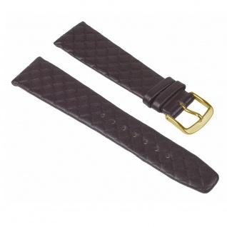 Graf Manufaktur Jazz Uhrenarmband Kalbsleder Band Braun Rautenmuster 26228G