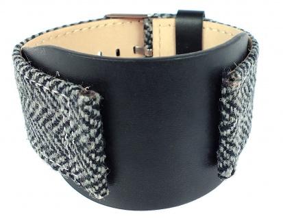 s.Oliver Ersatzband 27mm Leder/ Textil schwarz Unterlageband SO-430-LQ