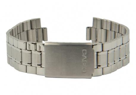 Casio Ersatzband 20mm Uhrenarmband Edelstahl Band Silberfarben für MTP-1141A MTP-1141PA 10471163