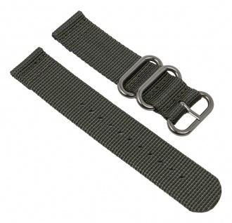 Uhrenarmband Textil Band grau mit silberfarbenen Metallschlaufen Minott 28231S
