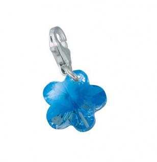Minott Charms Anhänger Kristall Blume 925/-Silber CMM129