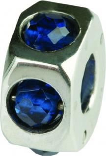 Charlot Borgen Marken Damen Bead Beads Drops Silber mit Zirkonia SCZ-18-Blau