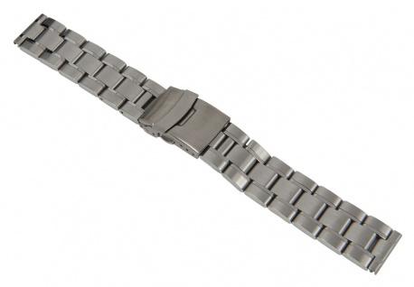 Minott Uhrenarmband Edelstahl Band Silberfarben matt/hochglanz 18mm 26850