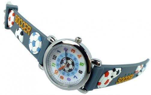 Alpha Saphir Kinderuhr analog Uhr grau Armbanduhr Edelstahl Quarzuhr Kunststoffband 394G 394